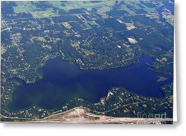 Greeting Card featuring the photograph A-007 Altoona Lake Eau Claire Wisconsin by Bill Lang