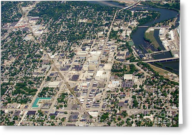 Greeting Card featuring the photograph A-011 Appleton Wisconsin Collage Avenue by Bill Lang