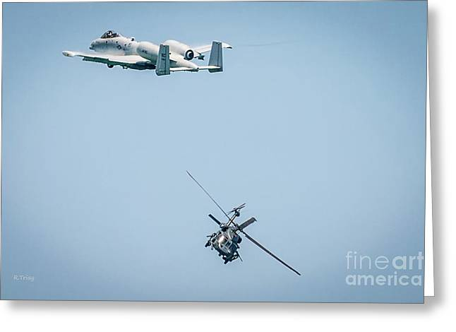 A-10 Thunderbolt II And The Blackhawk Greeting Card