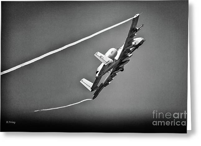 A-10 Thunderbolt II Bw II Greeting Card
