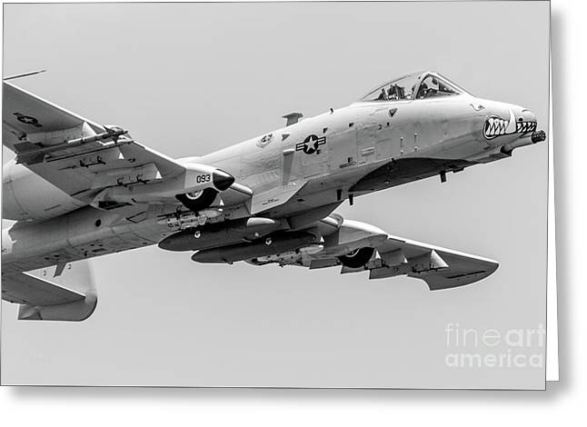 A-10 Thunderbolt II Bw Greeting Card