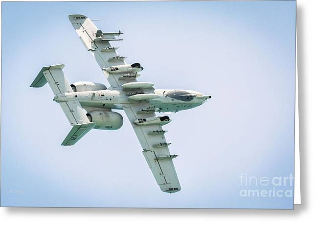A-10 Thunderbolt II In A Roll Greeting Card