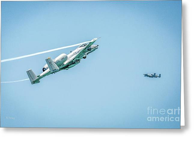 A-10 Thunderbolt II Making Their Pass Greeting Card