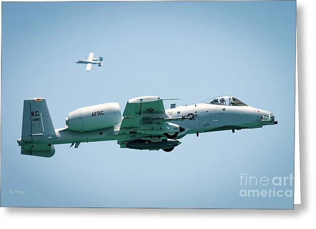 A-10 Thunderbolt II Maneuvers Greeting Card