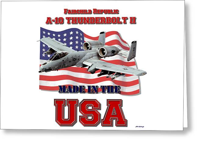 A-10 Thunderbolt Made In The Usa Greeting Card