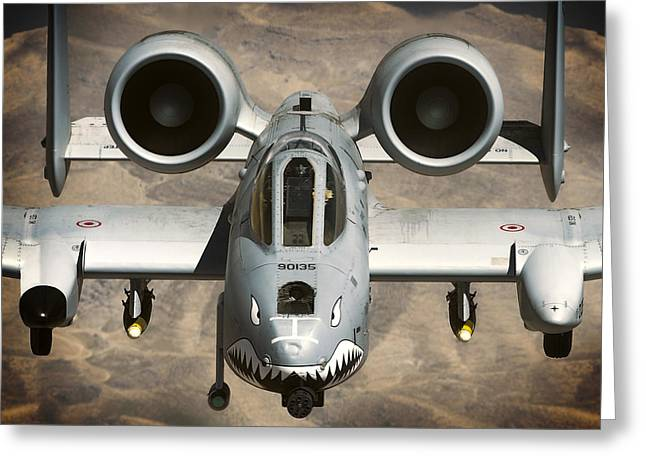 A-10 Warthog Power Greeting Card by Daniel Hagerman