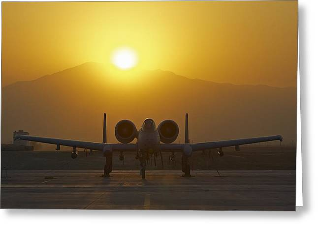 A-10 Warthog Greeting Card by Tim Grams