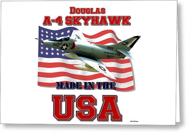 A-4 Skyhawk Made In The Usa Greeting Card