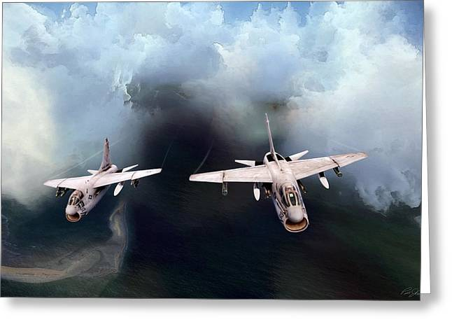 A-7 Clansmen Greeting Card by Peter Chilelli