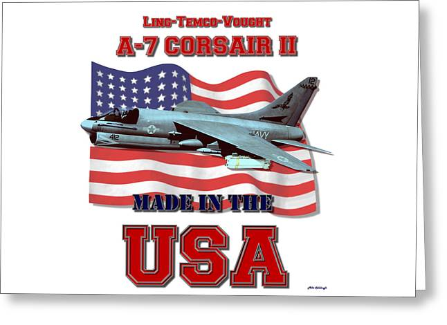 A-7 Corsair II Made In The Usa Greeting Card