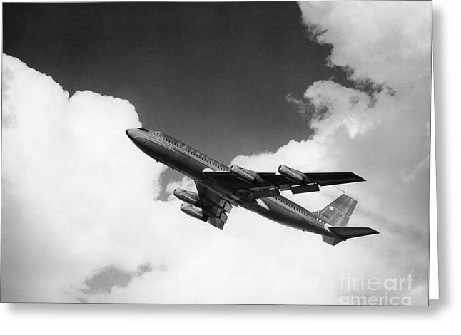 A-707 Jet Ascending Greeting Card by R. Krubner/ClassicStock