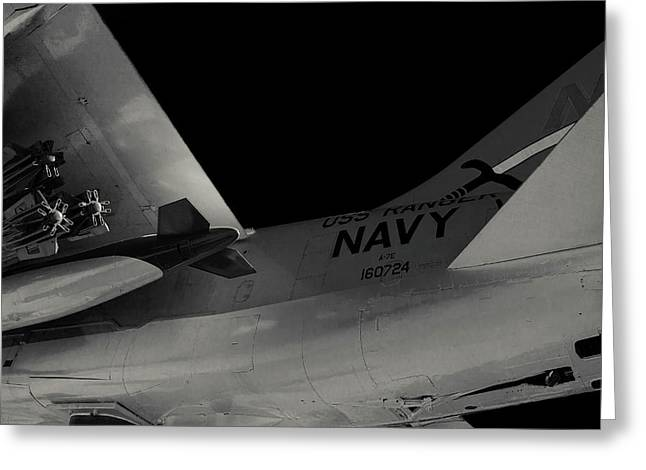 A-7e Corsair II Fighter Greeting Card by Eugene Campbell