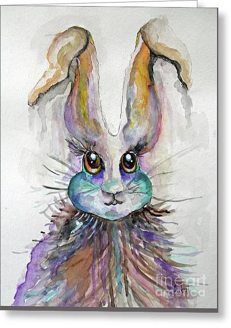 A Bad Hare Day Greeting Card by Rosemary Aubut