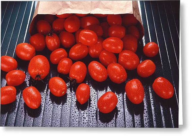 A Bag Of Tomatoes Greeting Card by Steven Huszar