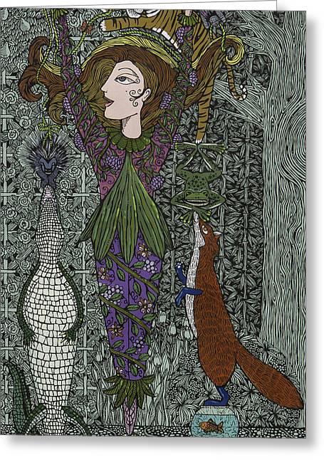A Balance Of Nature Greeting Card by Pamela Joy Trow-Johnson
