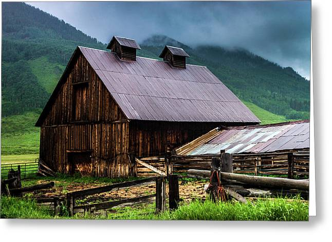 A Barn In Crested Butte Greeting Card