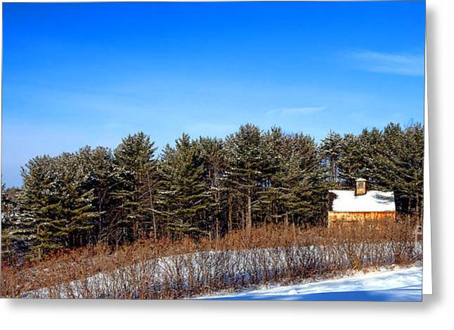 A Barn In The Snow In Maine Greeting Card