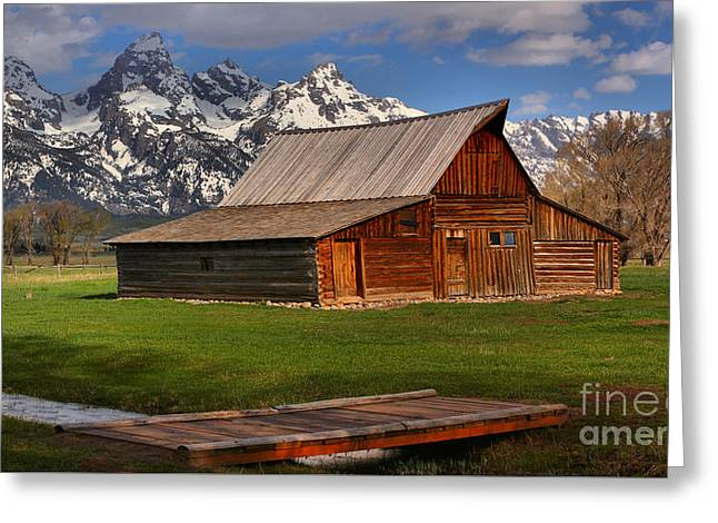 A Barn In The Tetons Greeting Card by Adam Jewell