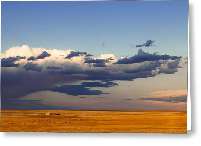 Greeting Card featuring the photograph A Barn On The Prairie by Monte Stevens