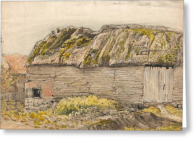 A Barn With A Mossy Roof, Shoreham Greeting Card by Samuel Palmer