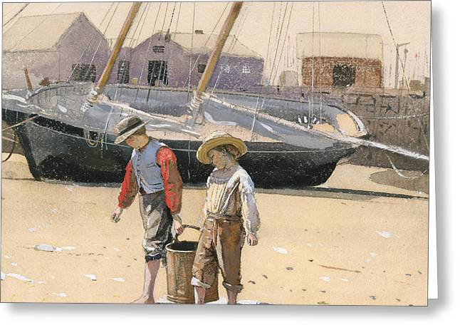 A Basket Of Clams, 1873 Greeting Card by Winslow Homer