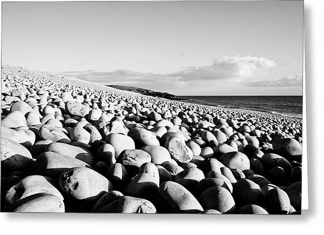 A Beach Of Stones Greeting Card
