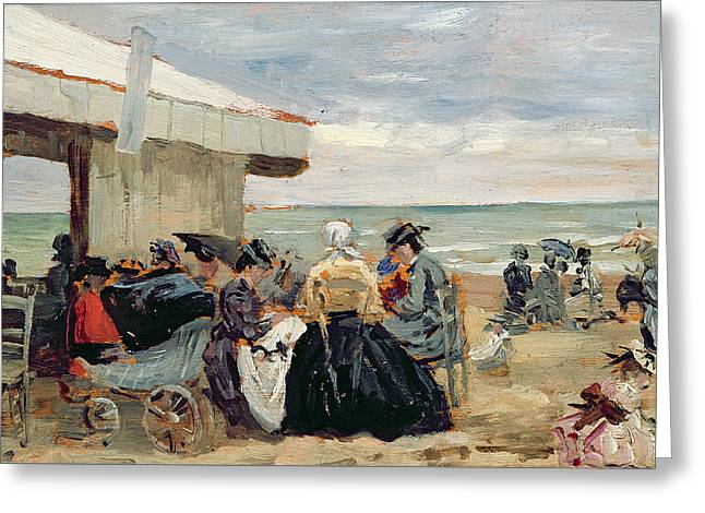 A Beach Scene Greeting Card
