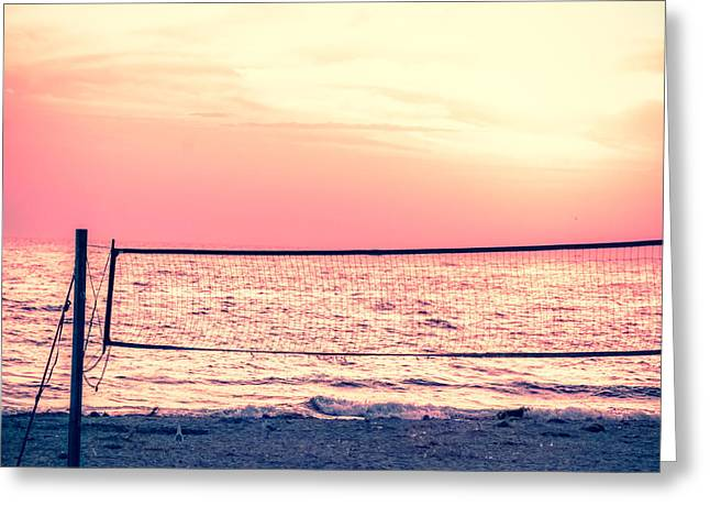 A Beach Volleyball Net  Greeting Card by Art Spectrum