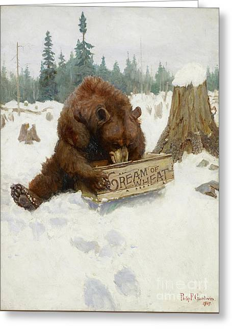 A 'bear' Chance Greeting Card