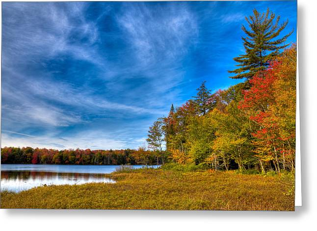 A Beautiful Autumn Day On West Lake Greeting Card by David Patterson