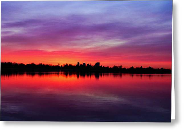 Sunrise At Sloan's Lake Greeting Card