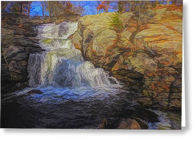 A Beautiful Connecticut Waterfall. Greeting Card