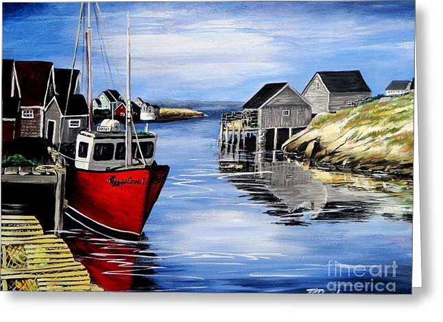 A Beautiful Day At Peggy's Cove  Greeting Card by Patricia L Davidson