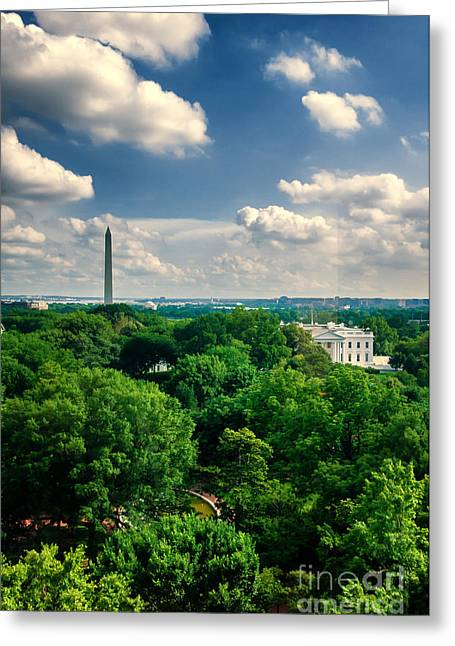 A Beautiful Day In Dc Greeting Card