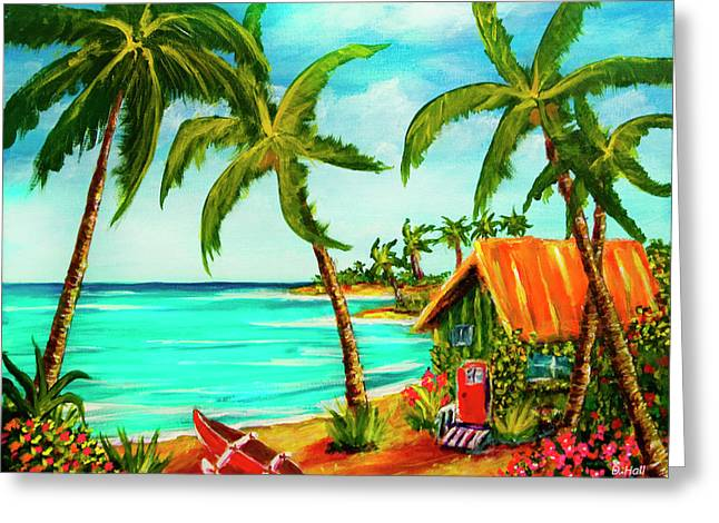 A Beautiful Day  Oahu #357 Greeting Card by Donald k Hall
