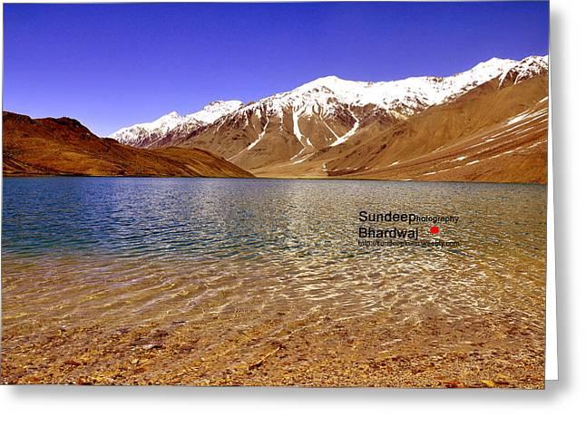 A Beautiful Lake On Himalayas Of Unforgetable Himachal In Incredible IIndia Greeting Card by Sundeep Bhardwaj Kullu sundeepkulluDOTcom