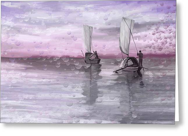A Beautiful Morning For Fishing Greeting Card by Angela A Stanton