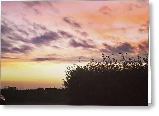 A Beautiful Morning Sky At 06:30 This Greeting Card by John Edwards
