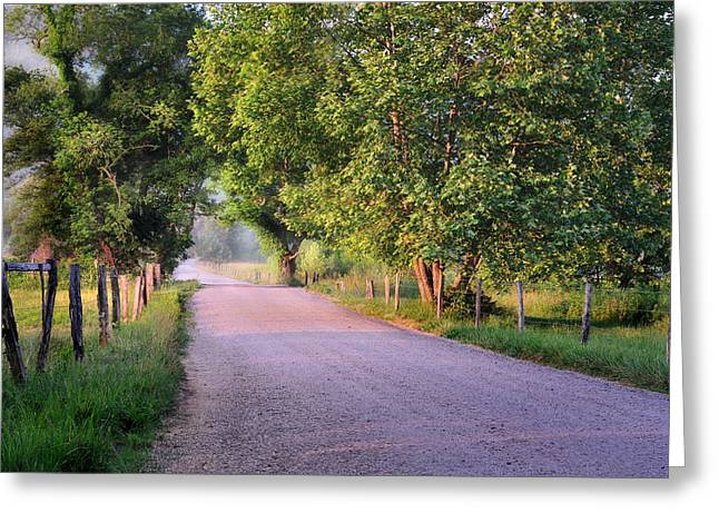 Scenic Drive Greeting Cards - A Beautiful Sparks Lane Morning Greeting Card by Thomas Schoeller