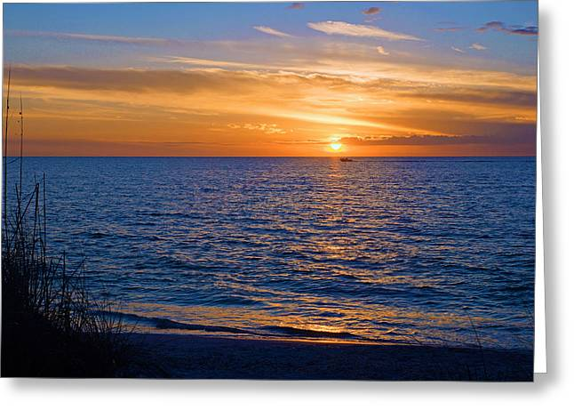 A Beautiful Sunset In Naples, Fl Greeting Card