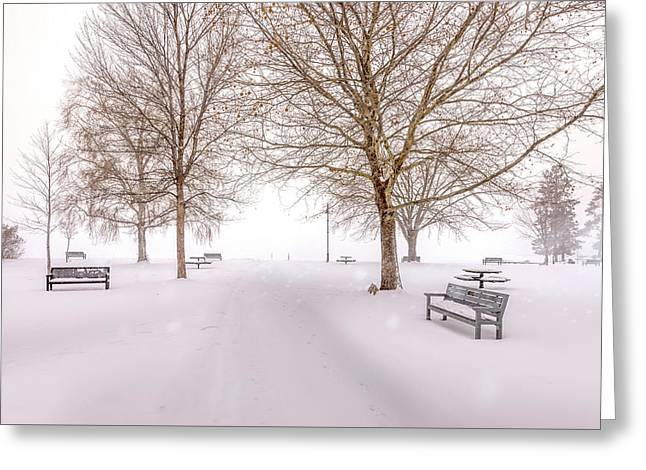 Greeting Card featuring the photograph A Beautiful Winter's Morning  by John Poon