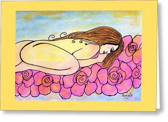 A Bed Of Roses Greeting Card