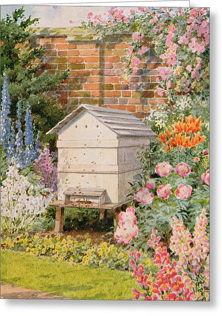 A Beehive Greeting Card by Louis Fairfax Muckley