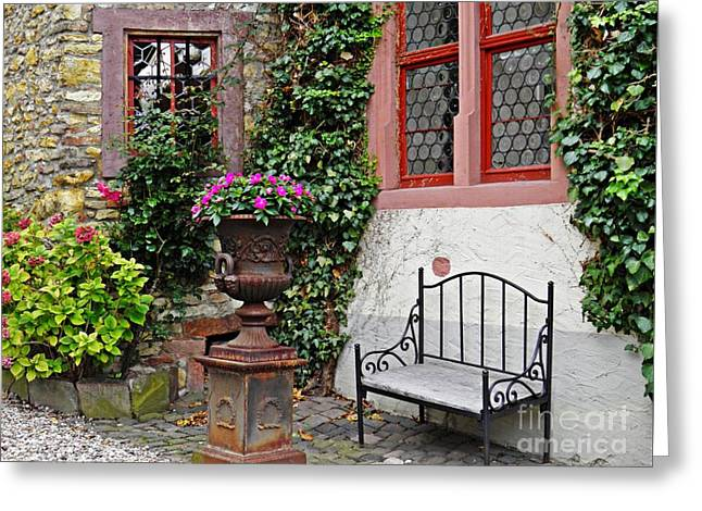 A Bench In Eltville Greeting Card