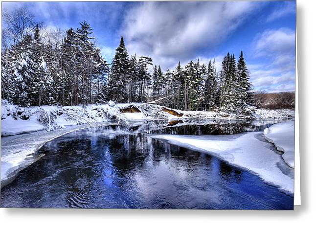 A Bend In The Moose River Greeting Card
