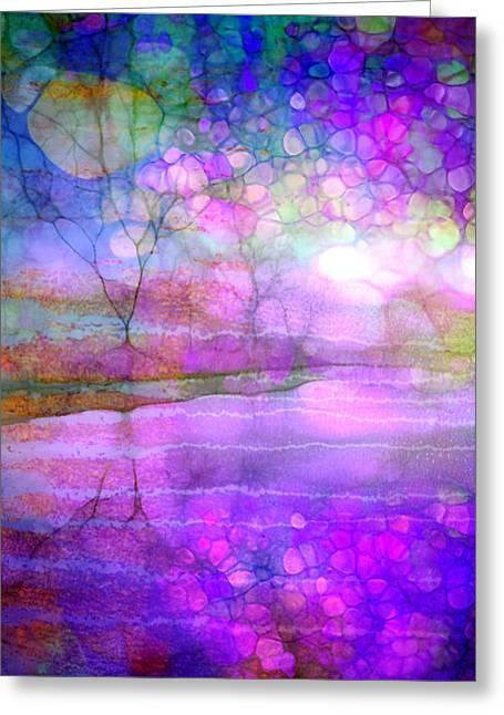 A Bewitching Purple Morning Greeting Card by Tara Turner