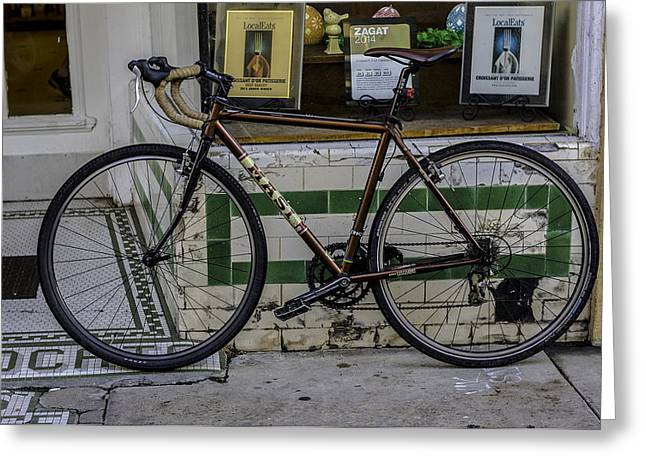 A Bicycle In The French Quarter, New Orleans, Louisiana Greeting Card