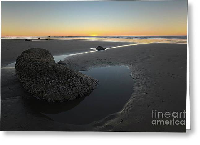 A Big Rock At Sunset Greeting Card