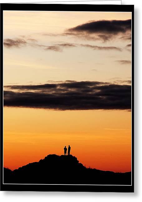 Mark Denham Greeting Cards - A big sky Greeting Card by Mark Denham