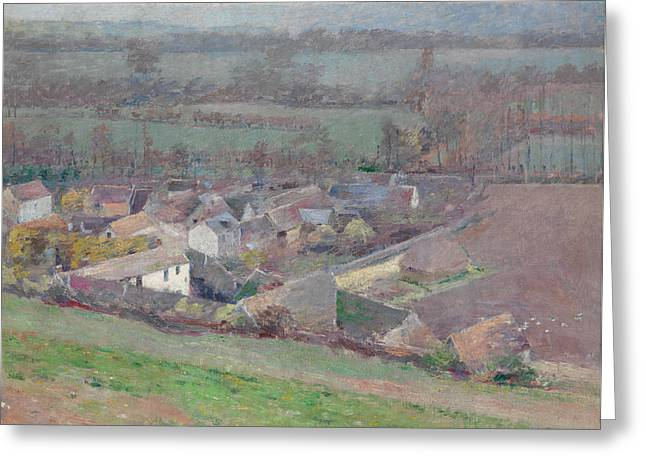 A Bird's-eye View Greeting Card by Theodore Robinson